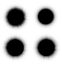 Pop art dotted halftone circles set vector