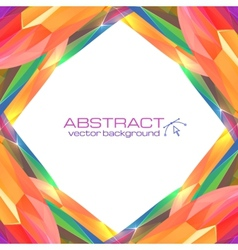 Abstract mottled frame vector
