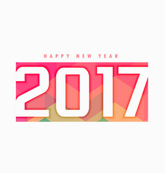 2017 new year text style with colorful backdrop vector