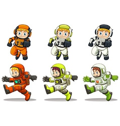 Young astronauts vector