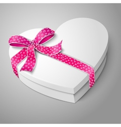 Realistic blank white heart shape box for your vector