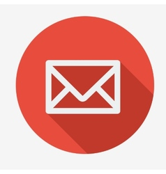 Mail icon simple envelope flat design vector