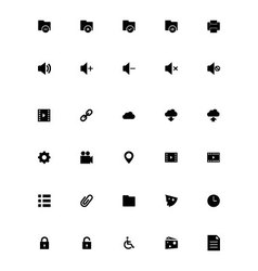 Mini icons 2 vector
