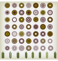 Round ornament pattern flower vector