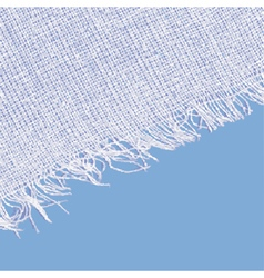 Canvas texture with fringe white blue color vector