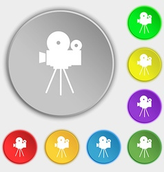 Video camera sign iconcontent button symbols on vector