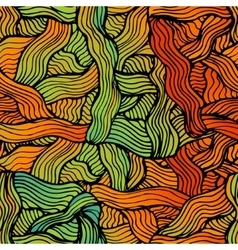 Abstract hand-drawn waves simless pattern vector
