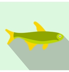 Trout fish icon flat style vector