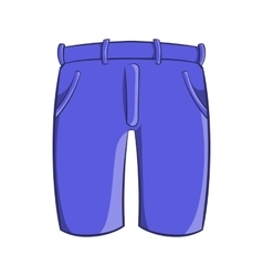 Mens classic shorts icon cartoon style vector