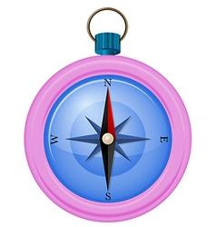 A pink compass vector