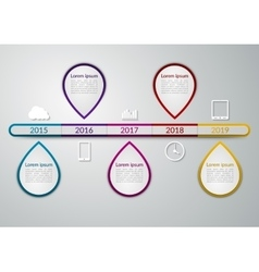 a timeline infographics vector image