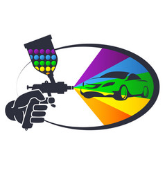 Auto spray painting vector