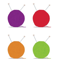 ball of yarn vector image