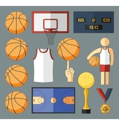 Basketball Elements vector image