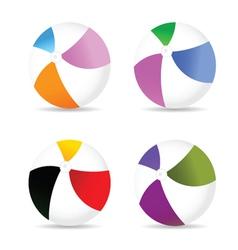 beach ball color vector image