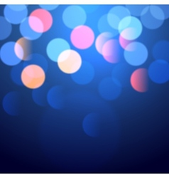 blue bokeh lights vector image vector image