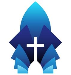 blue cross symbol vector image