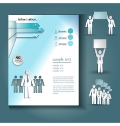 Booklet layout vector