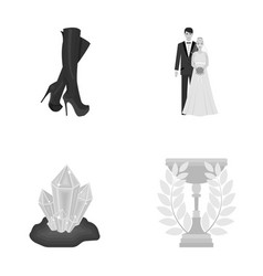 Business sport production and other monochrome vector