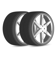 Car wheels vector