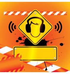 caution music vector image