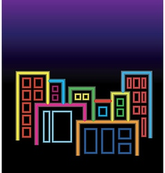 City of neon lights vector image