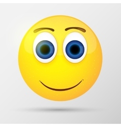 Cute smiling emoticon emoji smiley vector