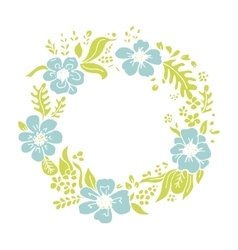 Floral wheath circle frame for your design vector image vector image