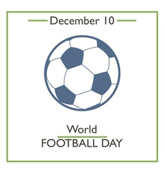 Football Day vector image vector image