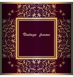Frame with lace square ornament vector image