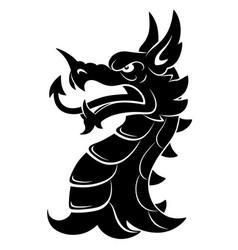 heraldic dragon head simple vector image vector image