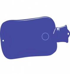 hot water bottle vector image