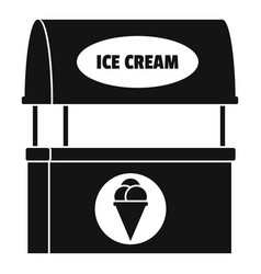 Ice creme selling icon simple style vector