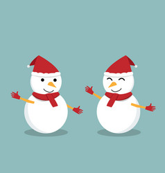 isolated happy snowman for presentation vector image vector image