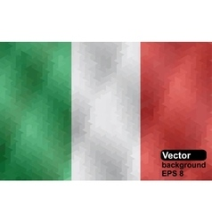 Italian flag made of geometric shapes vector