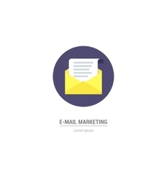 Letter in flat style - internet marketing vector