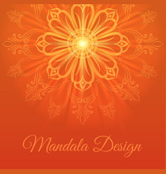 mandala abstract background vector image