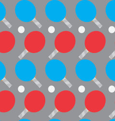 Ping pong seamless pattern vector image vector image