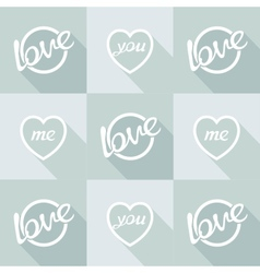 Pop-art style card symbol of love vector