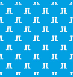 rubber boots pattern seamless blue vector image