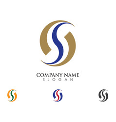 s letter logo vector image vector image