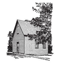 Salem church vintage vector
