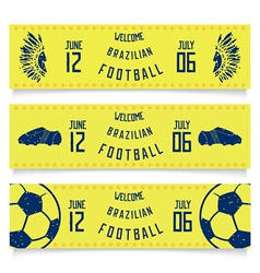 Set of banners welcoming tickets to brazil vector