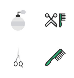Set of simple shop icons vector