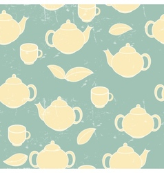 Tea seamless pattern background vector