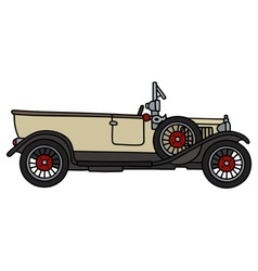 Vintage cream convertible vector image