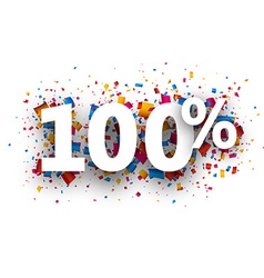 100 sign vector