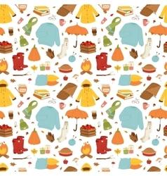 Autumn items seamless pattern vector image