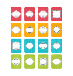 set of banners cute cards with frame collection vector image