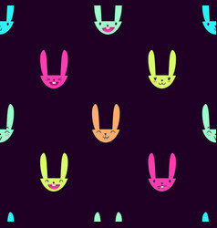 Rabbit emoticons pattern-14 vector